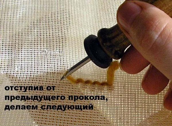 Ковровая вышивка технология