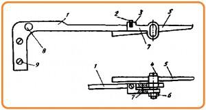 регулировка  установки положения иглы в швейной машине Чайка