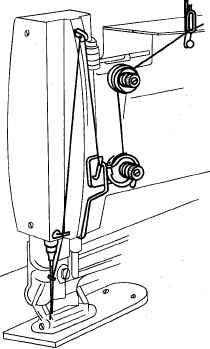 заправка верхней нитки в петельную машину 25 класс