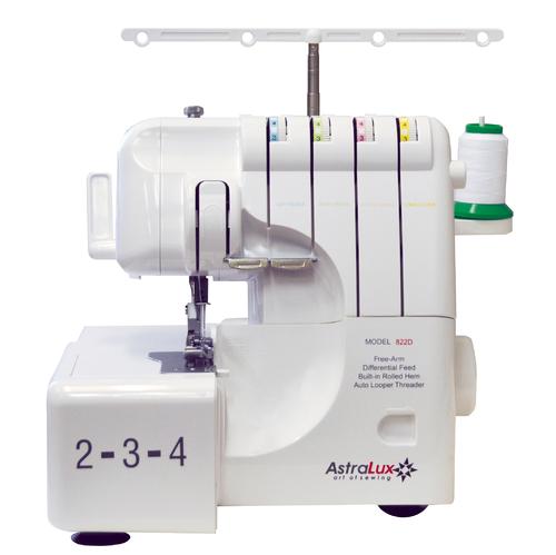 ASTRALUX 822 D, оверлок бытовой, двух-трёх-четырёхниточный